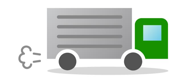食材宅配のトラック