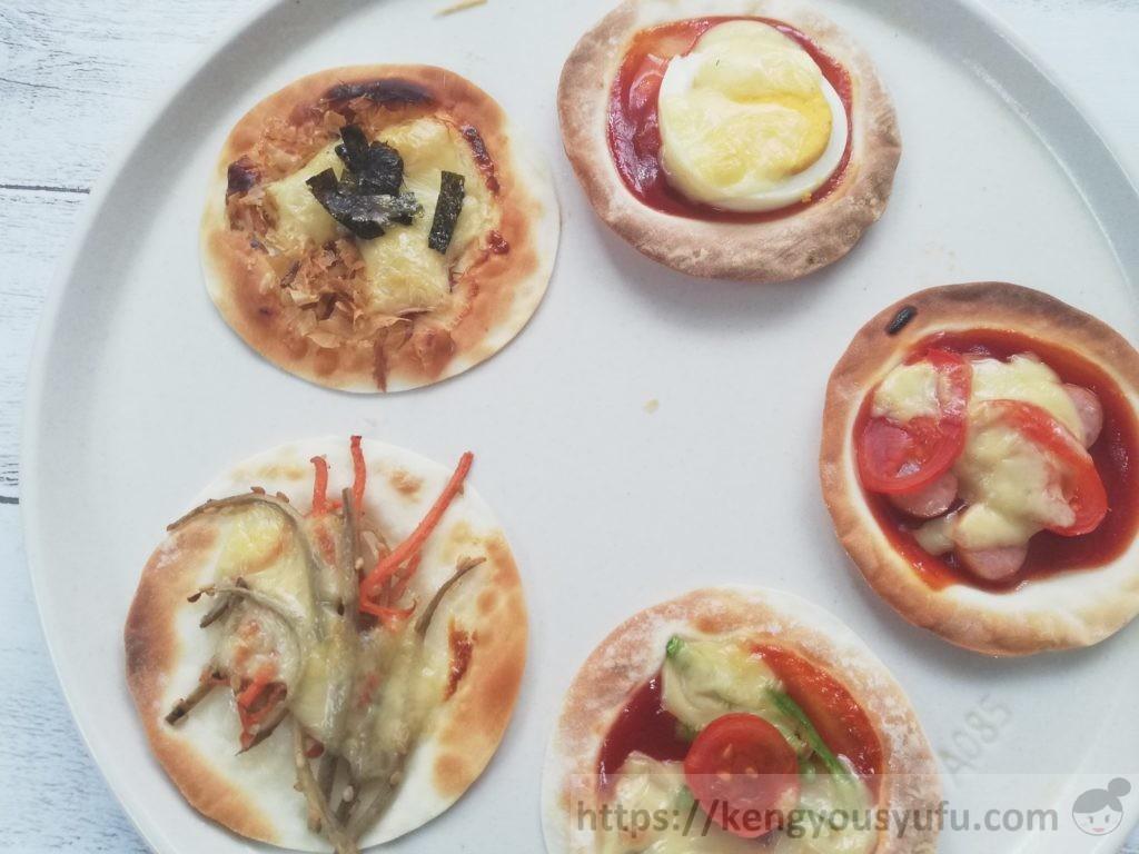 食材宅配コープデリで購入した「餃子の皮」ピザ