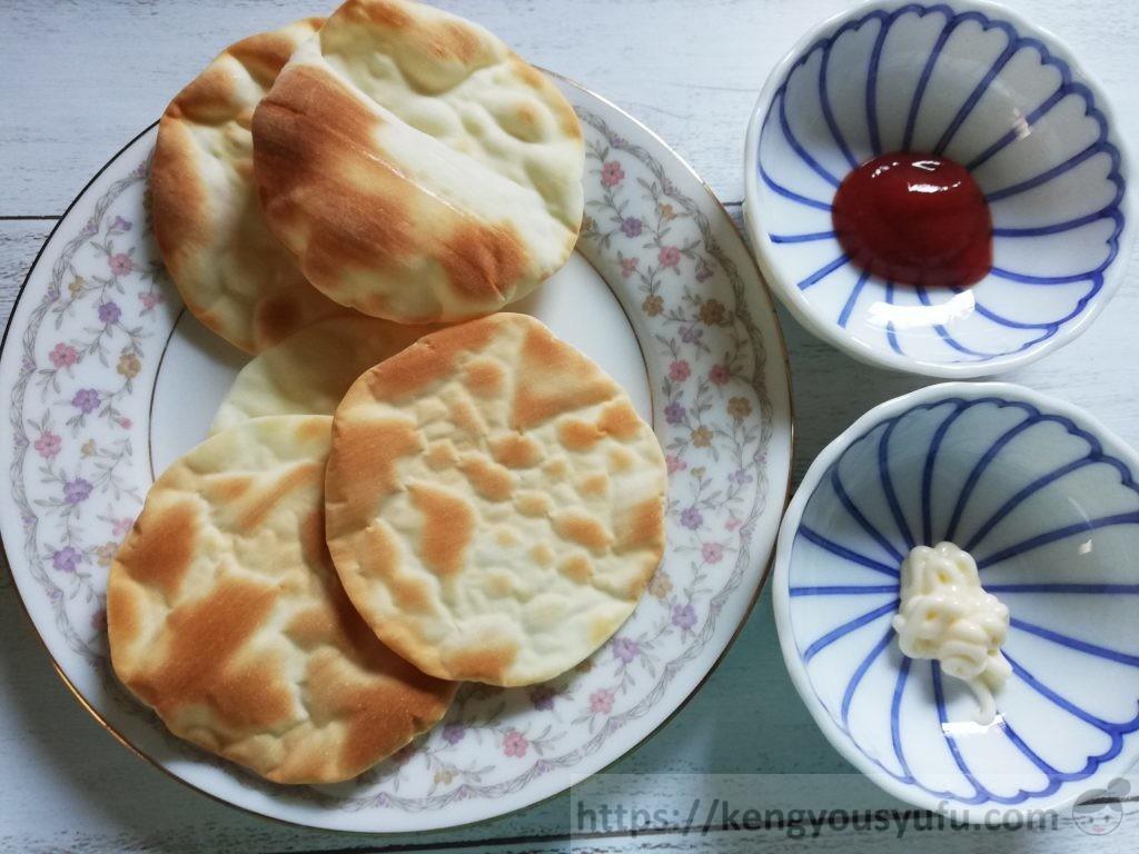 食材宅配コープデリで購入した餃子の皮もち米入り 調理後の画像