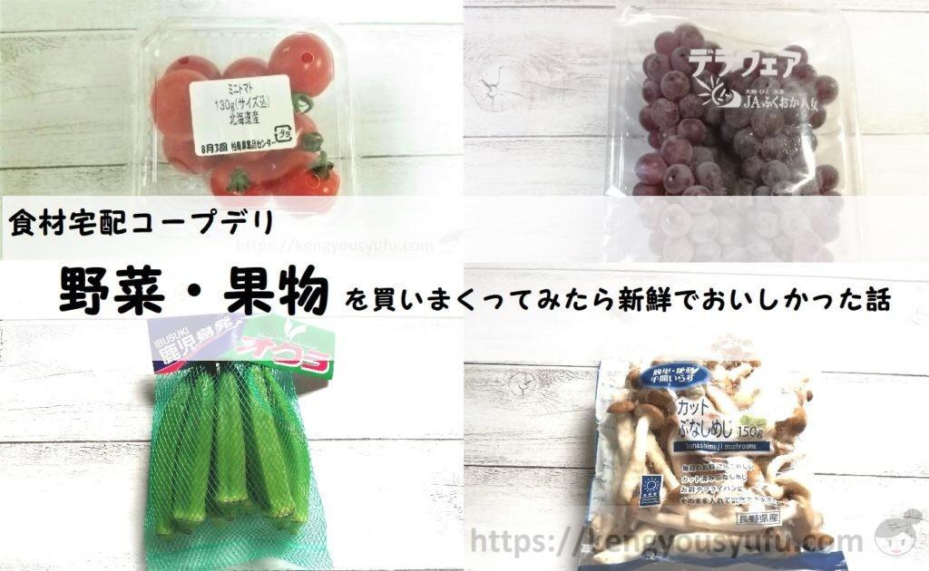 【食材宅配コープ】野菜・果物がとっても新鮮でおいしい!なのに値段が安い!