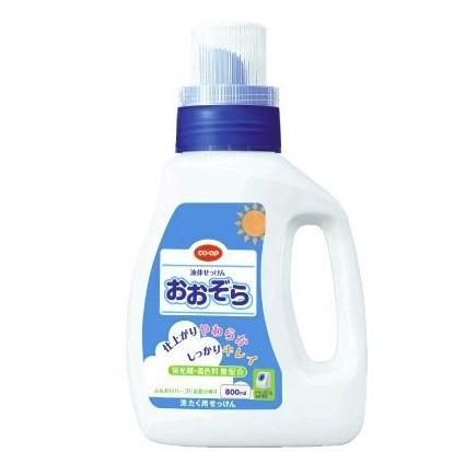 食材宅配コープデリで購入した洗濯洗剤「おおぞら」液体