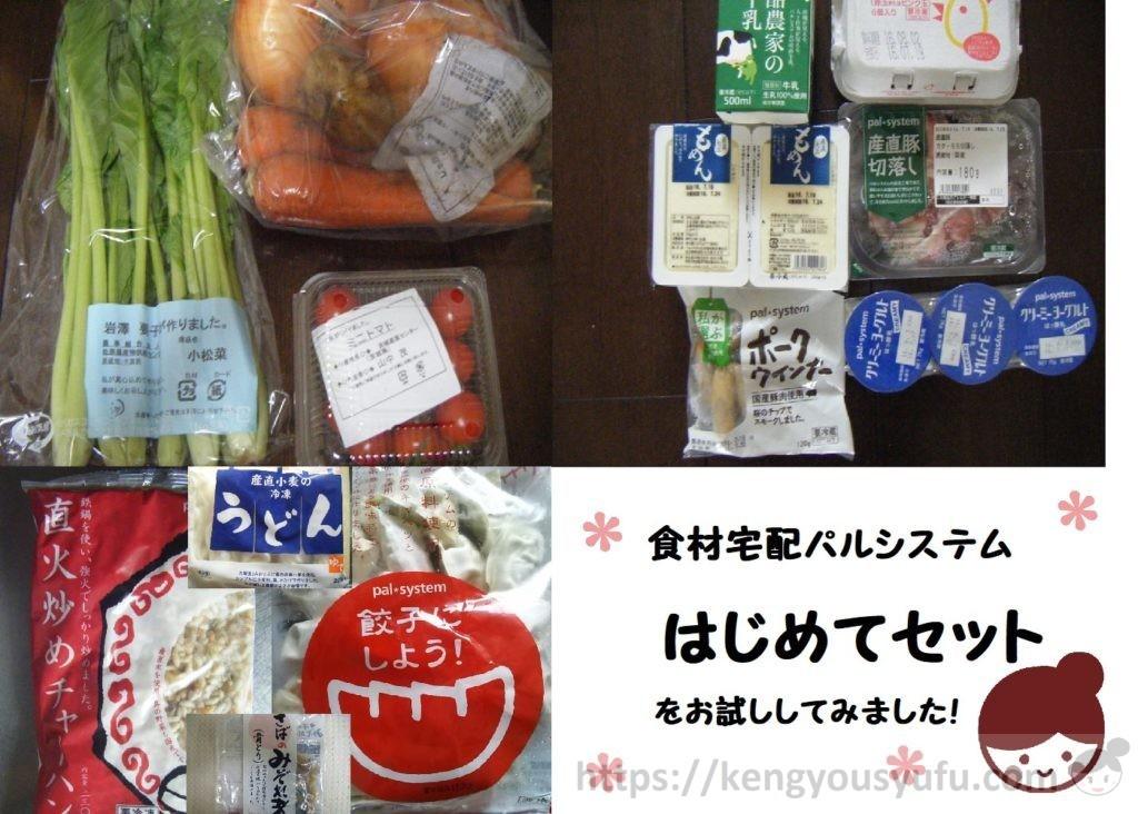 食材宅配パルシステムで購入した「初めてセット」3種類
