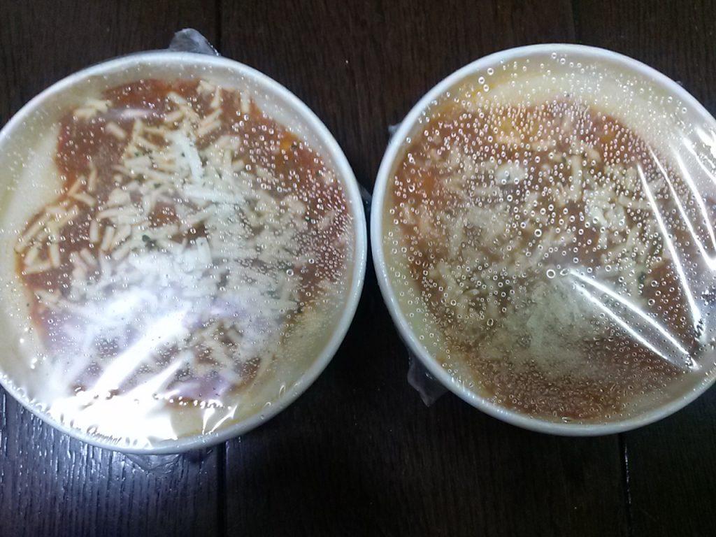 食材宅配パルシステムのクリーミードリア 凍ったままの画像