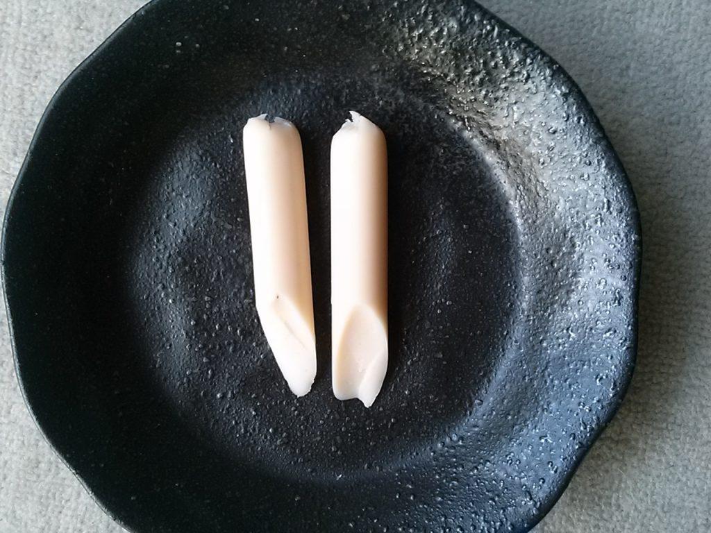 食材宅配パルシステムのおやつソーセージ 色合い