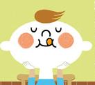 食材宅配サービスコープデリのマスコットキャラクター「ほぺたん」の画像
