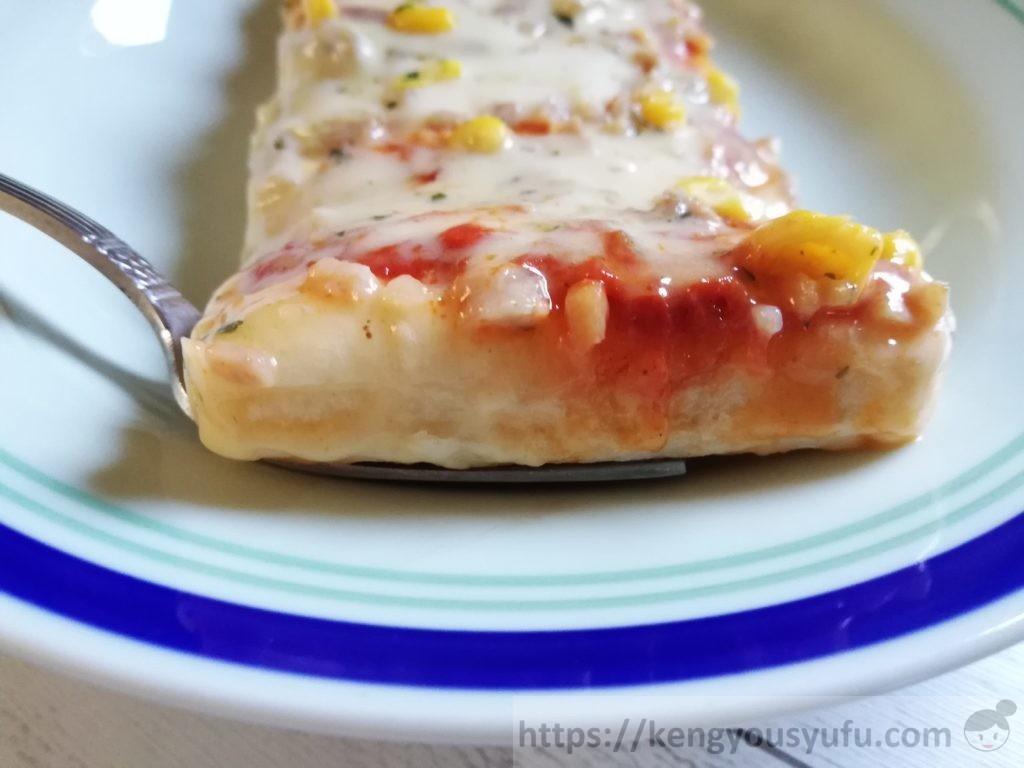 食材宅配コープデリ・パルシステムで「ふんわりレンジピザ」厚さをチェック