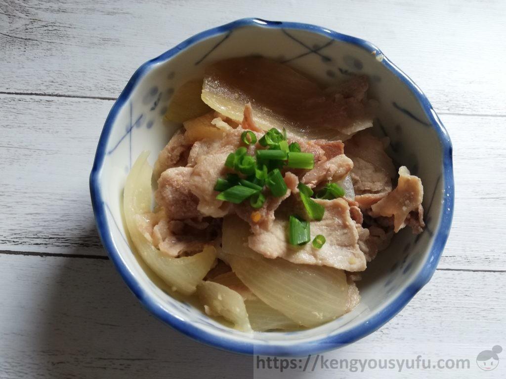 食材宅配コープデリで購入した「お米育ち豚小間切れ」焼き肉