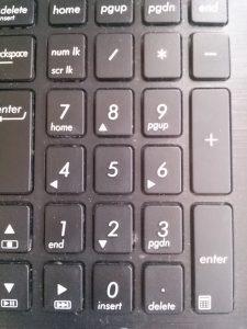 兼業主婦子のWEB注文失敗談 パソコンのテンキー画像