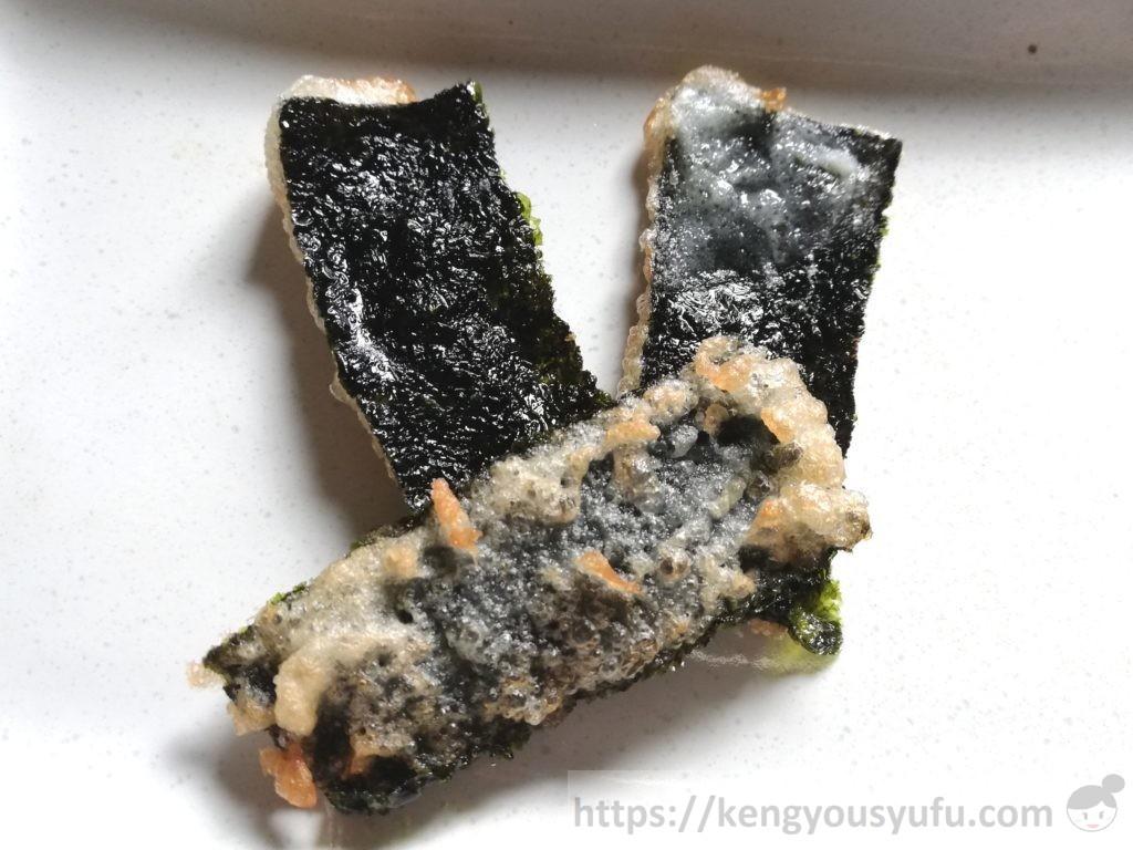 食材宅配コープデリで購入した「有明海産焼のり」を使って作った海苔の天ぷら