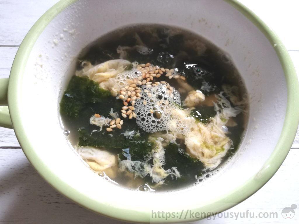 食材宅配コープデリで買った「味付のり」で作ったのりと卵のスープ
