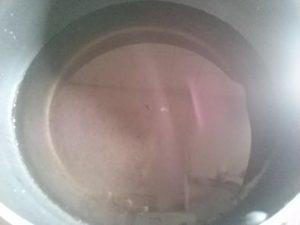 食材宅配コープデリのふかひれスープを食べてみました!無図を沸騰させている画像