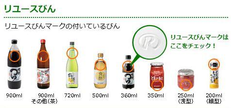 パルシステム リユース瓶