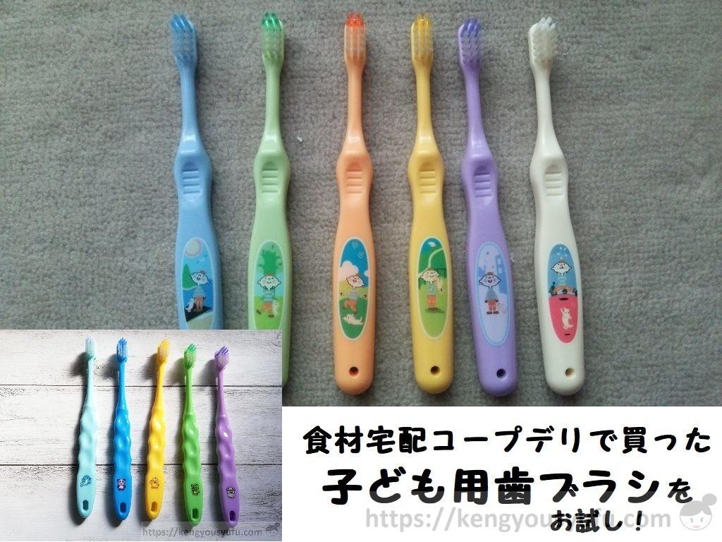 食材宅配コープデリで買った子ども用歯ブラシ2種類をお試し!