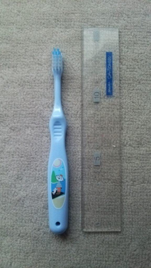 食材宅配コープデリのマスコットキャラクター ほぺたんが胸キュン♡子ども用歯ブラシ 長さは14センチ