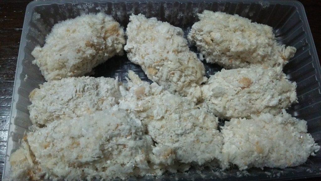 コープの広島県産ふっくら大粒かきフライをお試し 本気で美味!凍ったままの画像