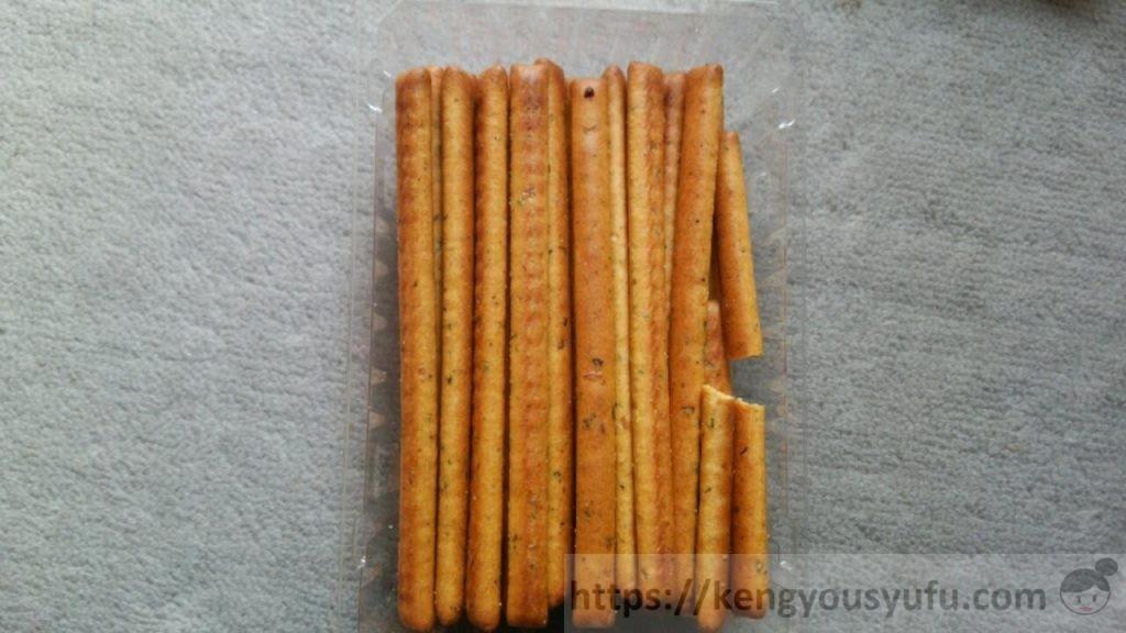 コープのお菓子「国産小麦の野菜バー」名前は以上においしい 中身の画像