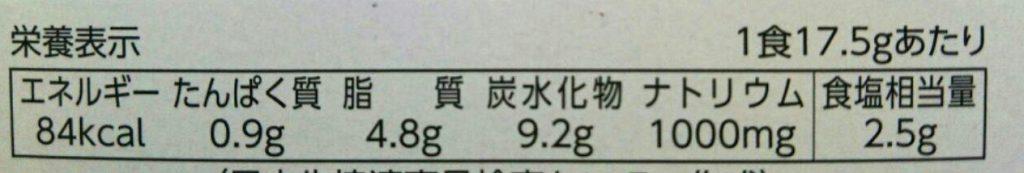 食材宅配コープデリで購入した「みんなのコープカレー」栄養成分表示