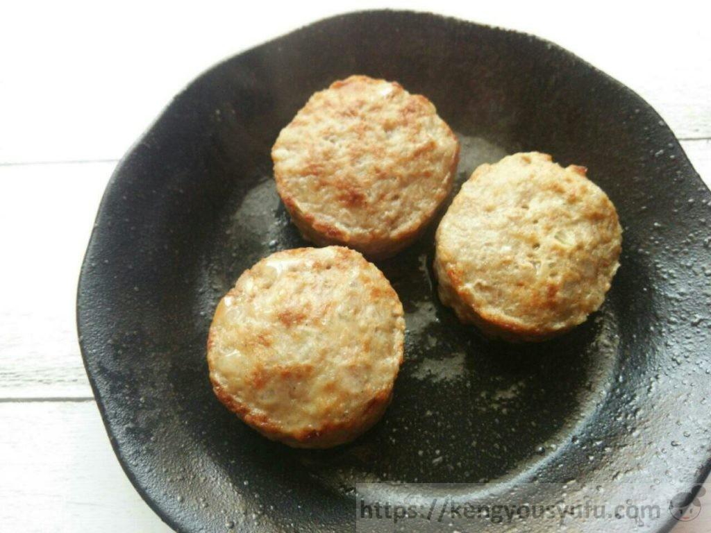 食材宅配コープデリ「レンジでふっくらミニハンバーグ」解凍後の画像