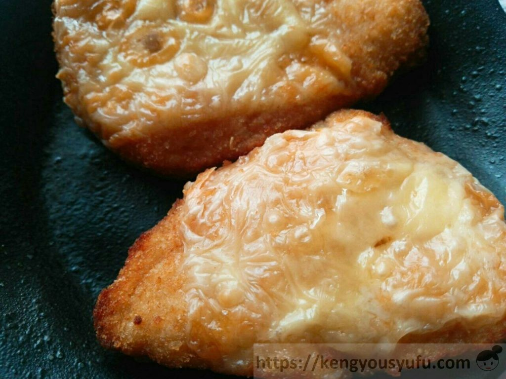 食材宅配コープデリで購入した「国産若鶏チーズ焼き」完成画像