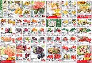 食材宅Y杯コープデりのメインカタログ「ハピ・デリ・」に掲載されている野菜や果物の画像