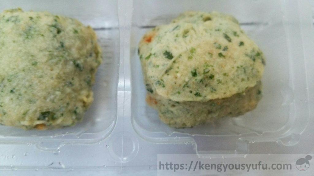 食材宅配コープデリ「鶏とチーズの磯辺揚げ」お弁当に便利!解凍前の画像