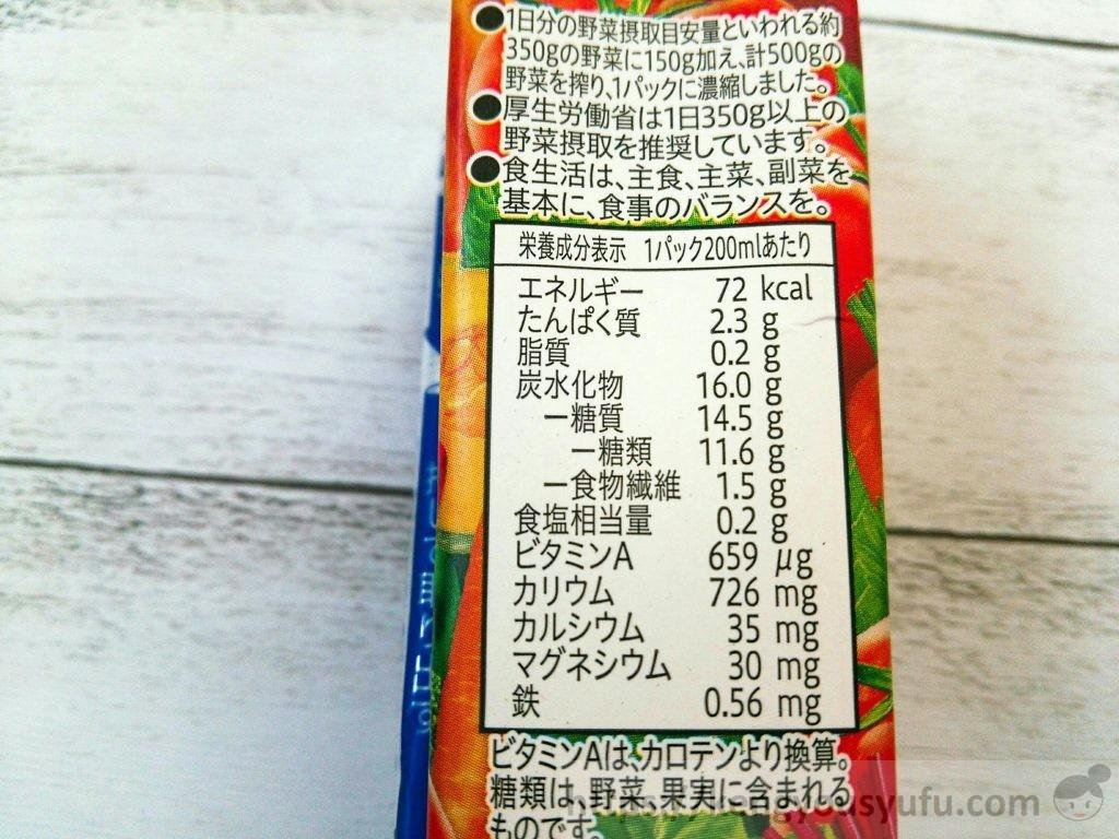 食材宅配コープデリで買った「野菜がおいしい1日分」栄養成分表示画像