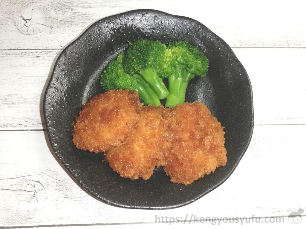 食材宅配コープデリで購入した「九州のブロッコリー」甘辛チキン南蛮カツと共に