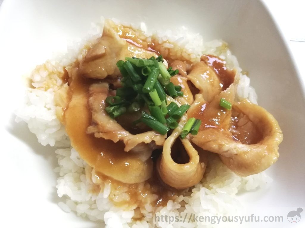 食材宅配コープデリで購入した「生姜香る豚のしょうが焼」完成画像