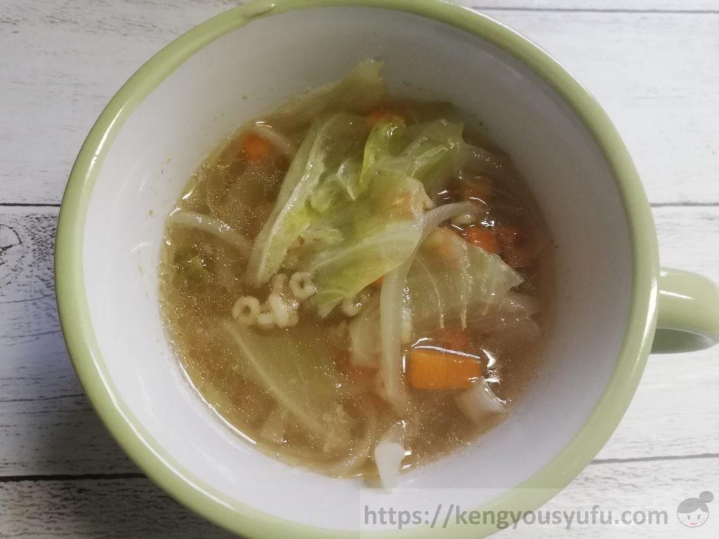 食材宅配コープデリで購入した「おさかなだけのパラパラミンチ」スープを作ってみた