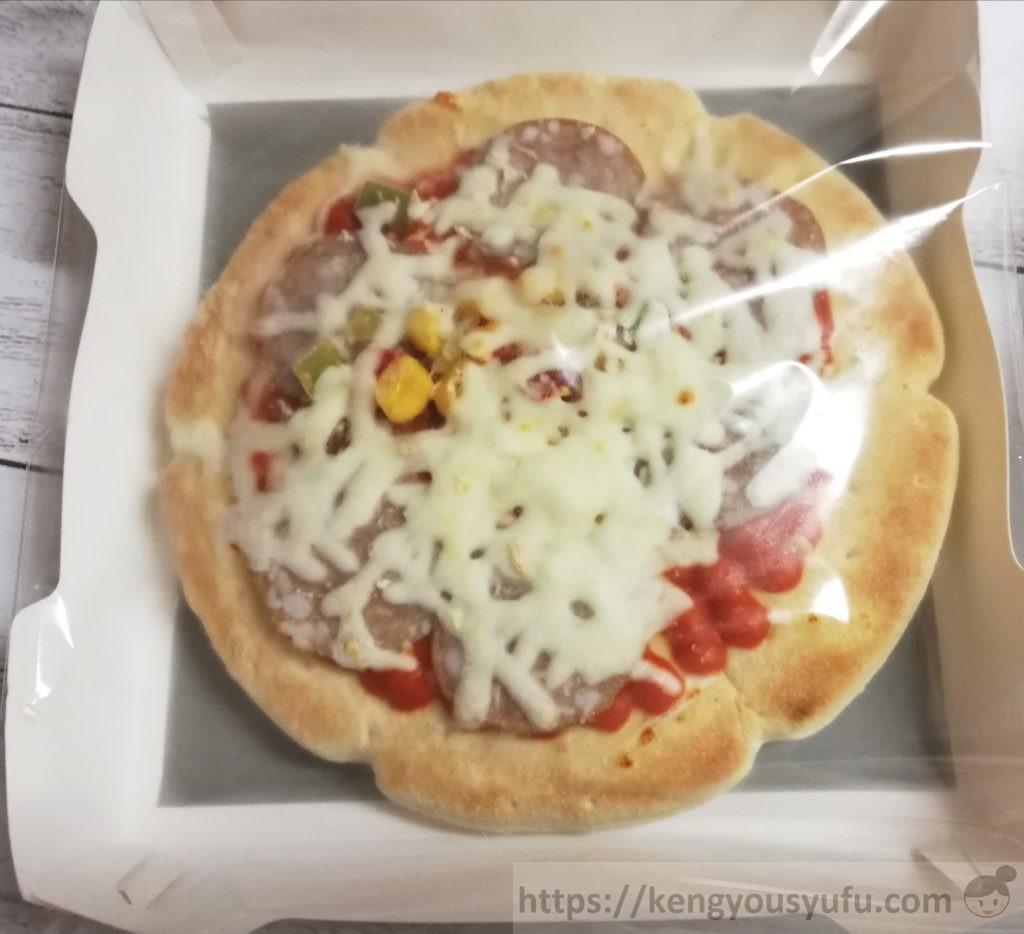 食材宅配コープデリで購入した「レンジでミックスピザ」加熱前の画像