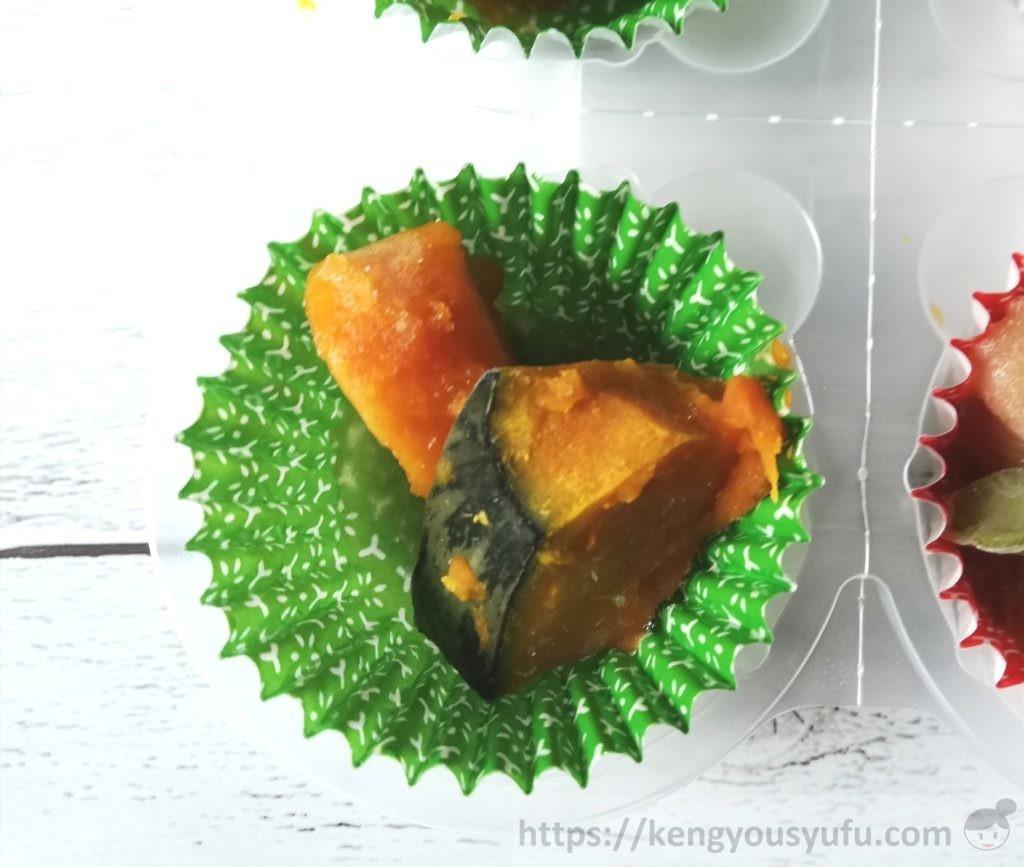 食材宅配コープデリで購入した「3種の煮物おかず」かぼちゃ煮