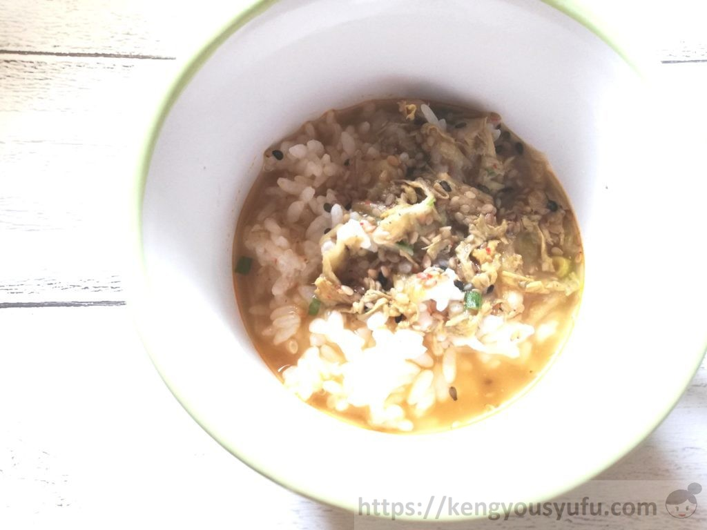 食材宅配コープデリで購入した「ピリ辛ごまスープ」