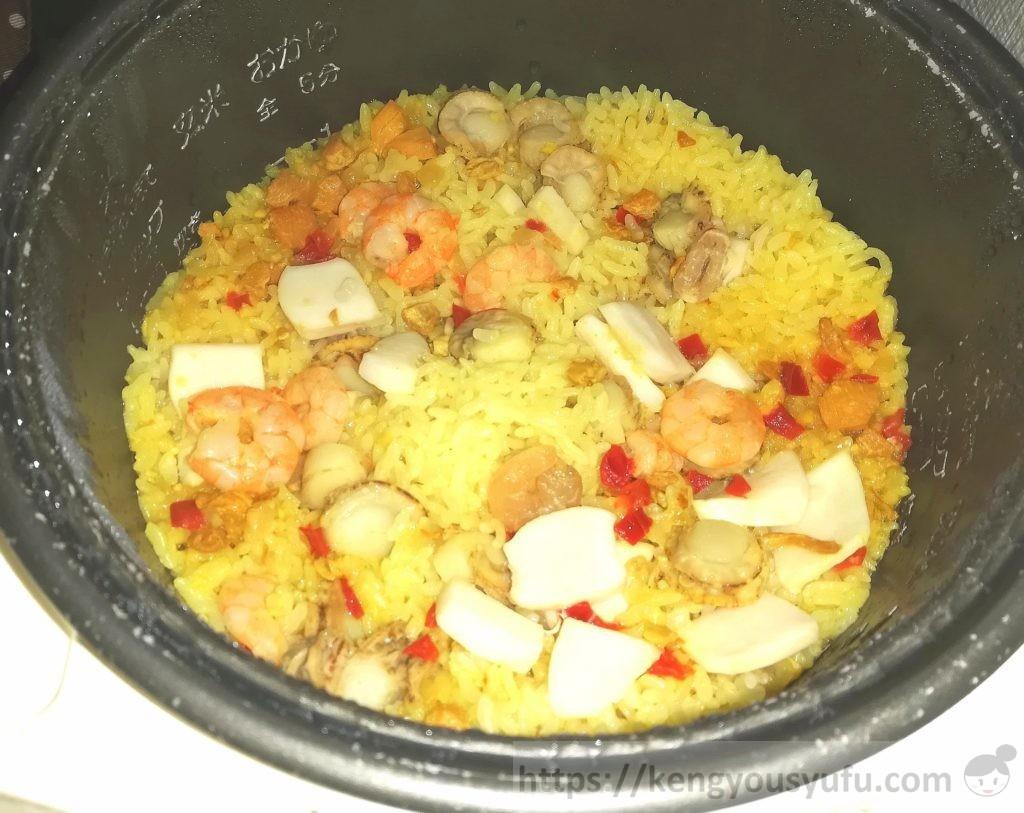 食材宅配コープデリで購入した「炊き込みパエリア」炊きあがり画像