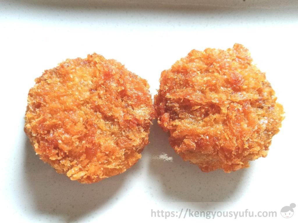 食材宅配コープデリで購入した「お弁当用メンチカツ」解凍後の画像