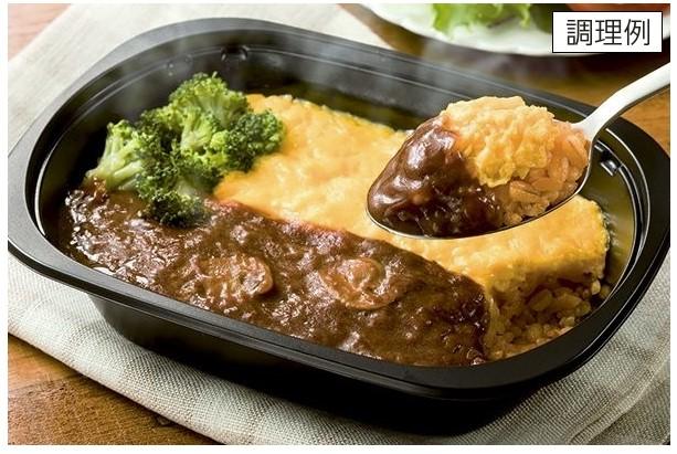 食材宅配コープデリで購入した「デミグラスソースのとろとろオムライス」調理例