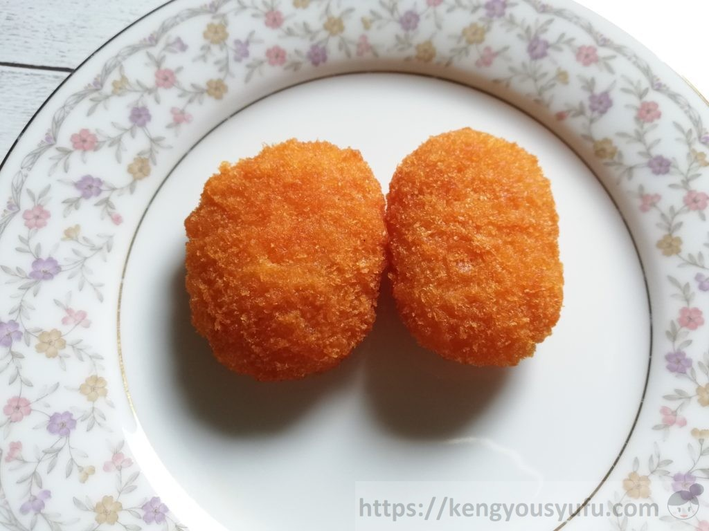 食材宅配コープデリで購入した「明太マヨポテト」解凍後の画像