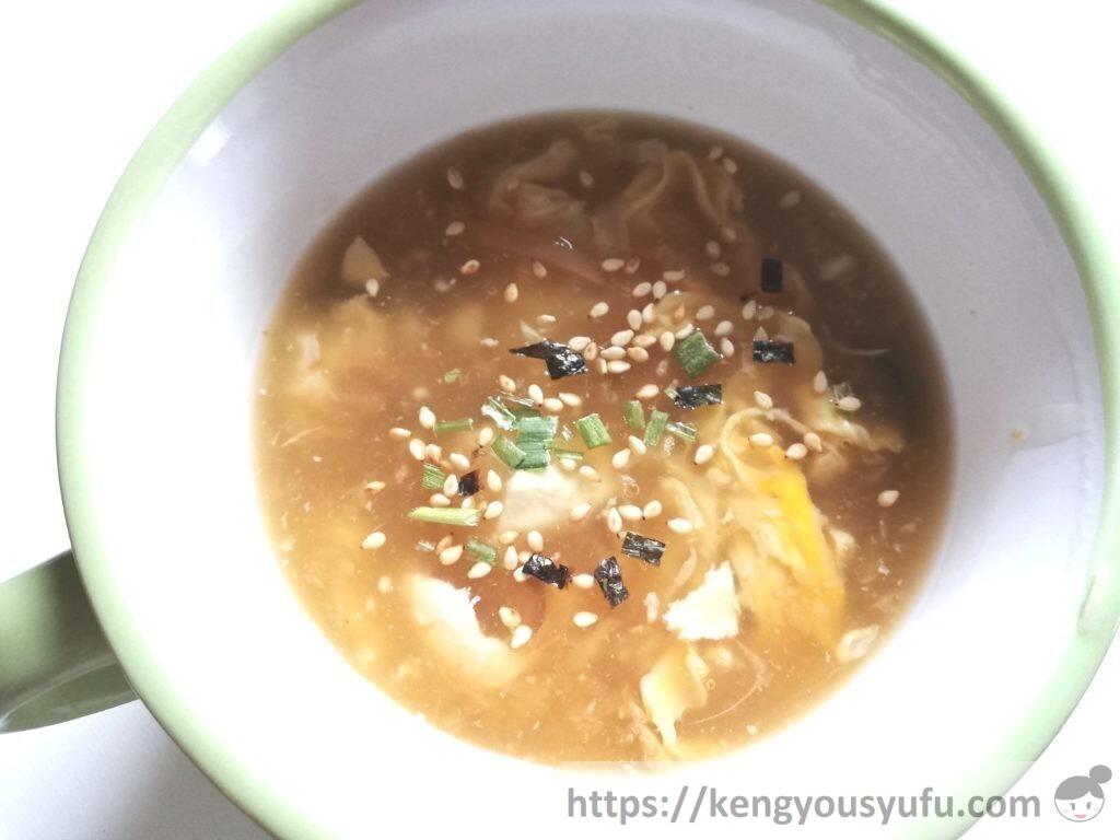 食材宅配コープデリで購入した「かにと貝柱の中華スープ(5倍濃縮)」アレンジレシピ