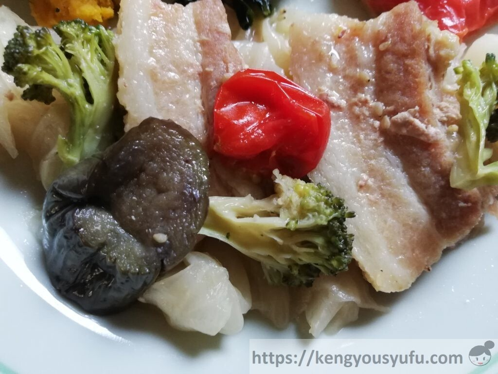 冷凍宅配弁当ナッシュ「蒸し豚の味噌煮」メイン