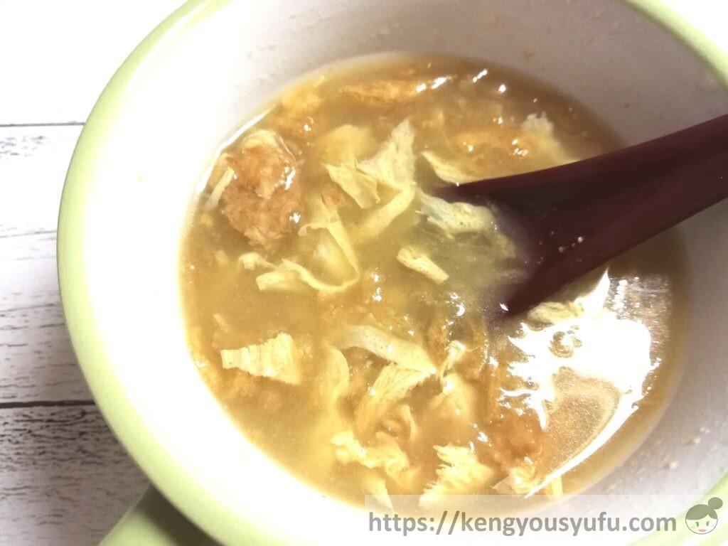 食材宅配コープデリで購入した「炒めたまねぎとたまごのお味噌汁」完成画像
