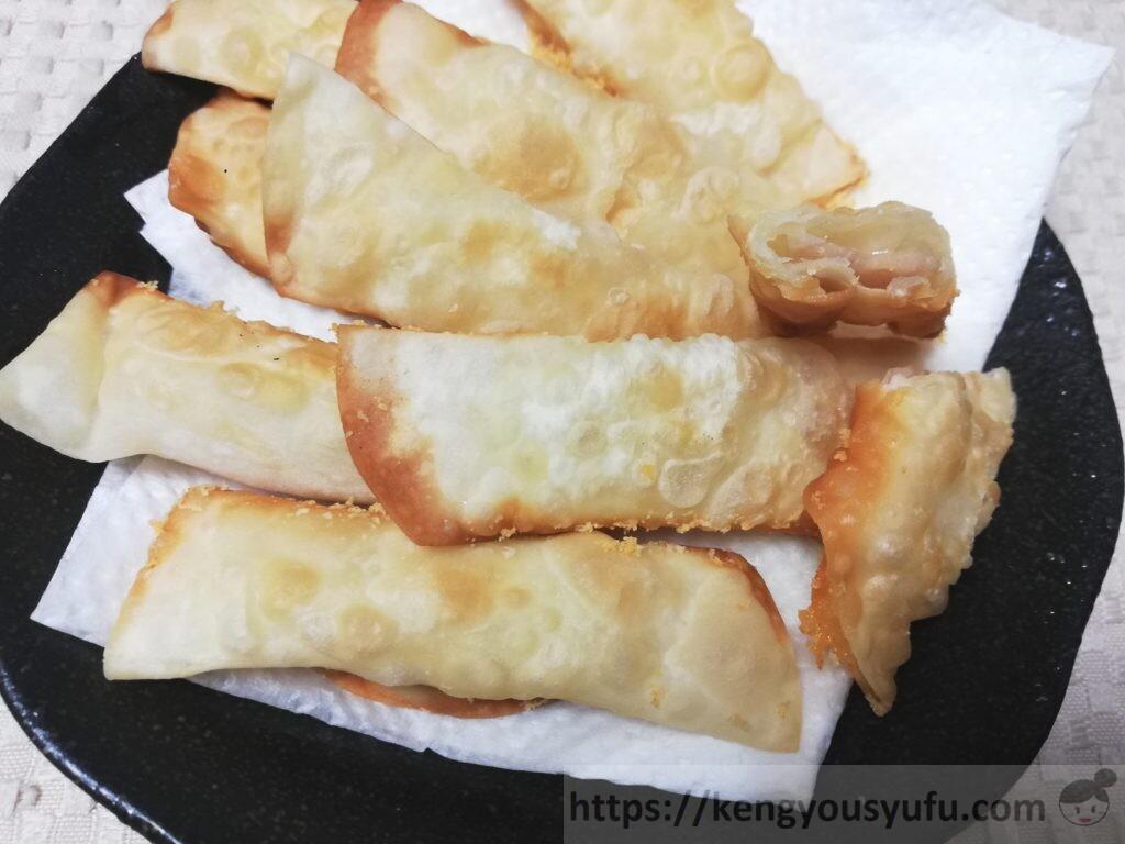 食材宅配コープデリで購入した「ロースハム」を使ってハム&チーズ巻き餃子を作ってみた