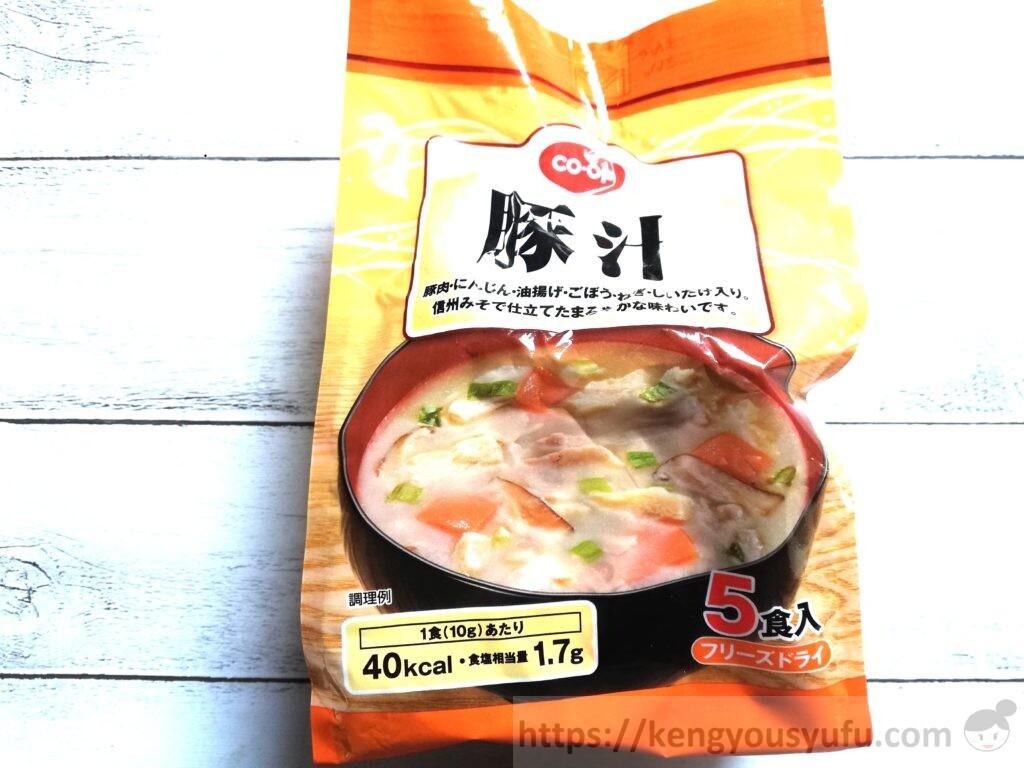 食材宅配コープデリフリーズドライスープ「豚汁」パッケージ画像