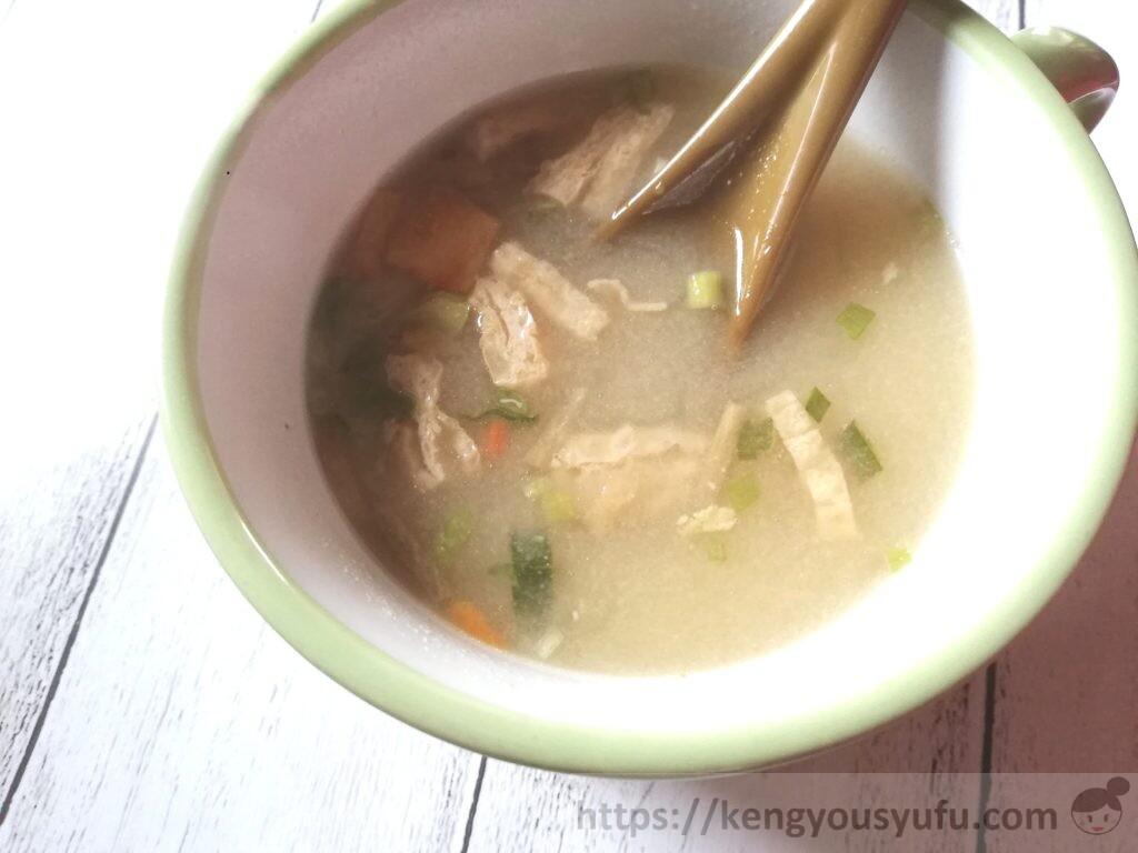 食材宅配コープデリフリーズドライスープ「豚汁」完成画像