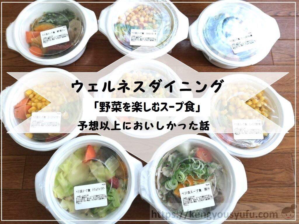 ウェルネスダイニング【野菜を楽しむスープ食(ベジ活スープ食)】食べ応えがあって感動した話