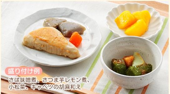 ウェルネスダイニング「mu-suやわらか宅配食」盛り付け例