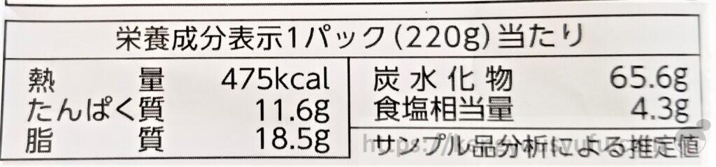 豚から揚げとレンコンの黒酢たれ炒め 栄養成分表示